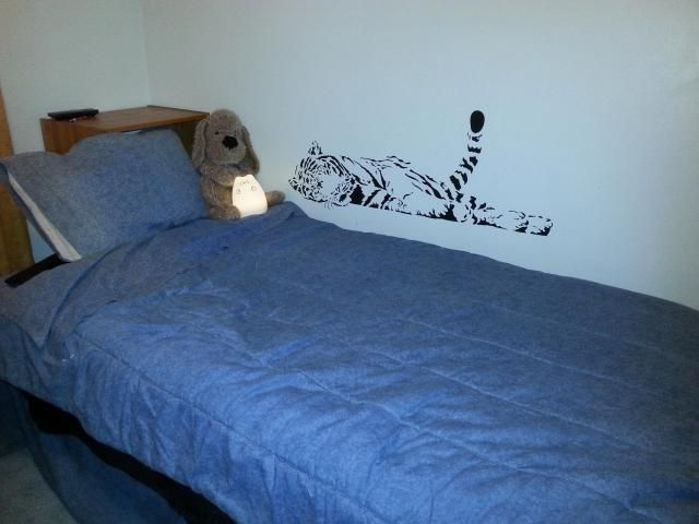 High quality removable bedroom tiger decoration wall art for C meo bedroom wall dress